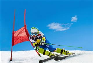 Professional Female Ski Competitor