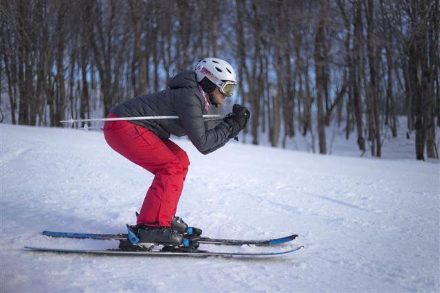 Downhill Ski Position