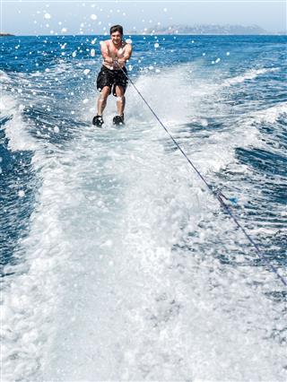 Doing Water Sport