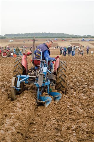Man Ploughing