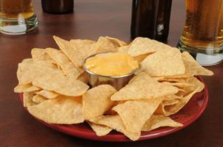 Bar Food Nachos And Beer