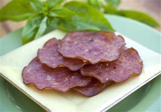 Baked Genoa Salami Appetizer