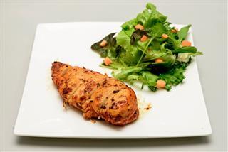 Chicken Filet Bbq And Salad
