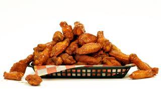 Spicy Glazed Chicken Wings In Basket