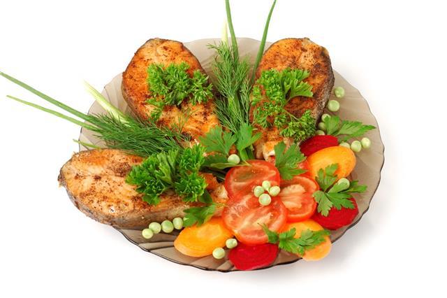 Appetizing Fried Salmon