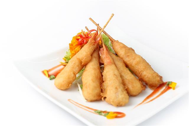 Tempura Shrimps And Sauce