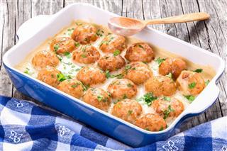 Swedish Homemade Meatballs Smothered