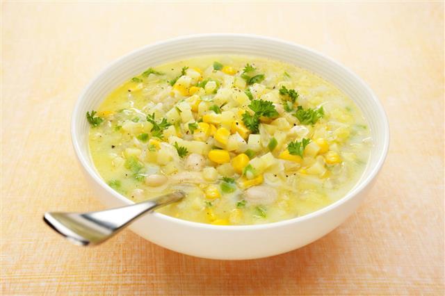 Corn Chowder Soup With Potatoes