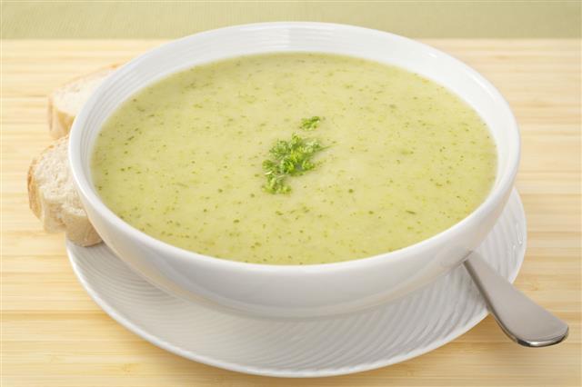 Green Soup Courgette Zucchini