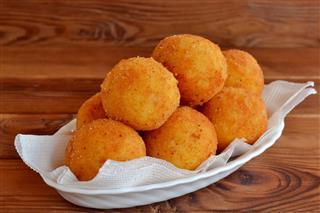 Arancini Balls On A Plate