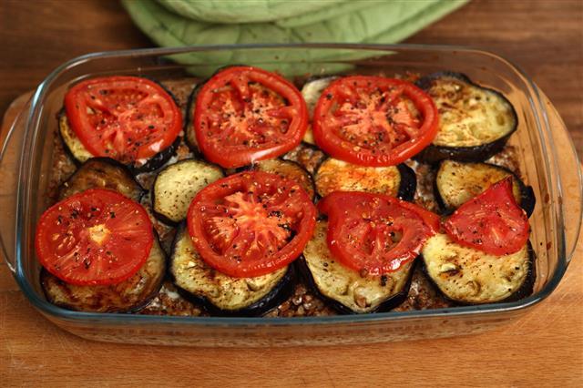 Roasted Eggplant With Tomato