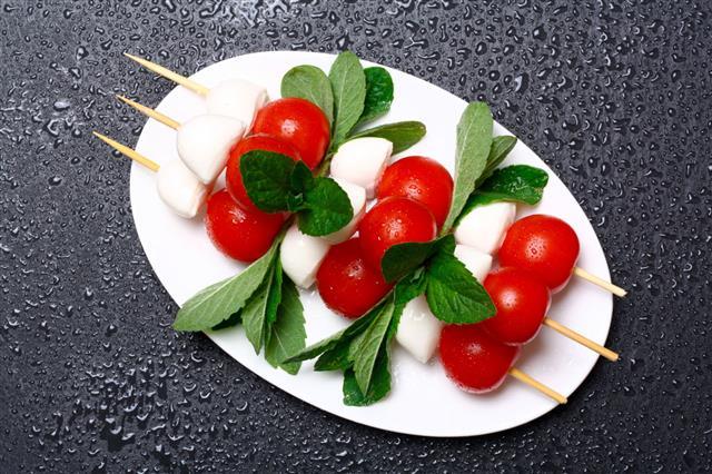 Caprese Salad On Sticks
