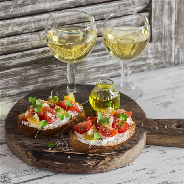 Tomato And Cheese Bruschetta