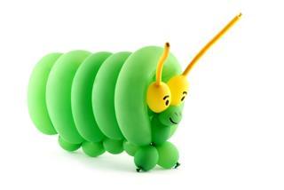 Balloon Caterpillar Art