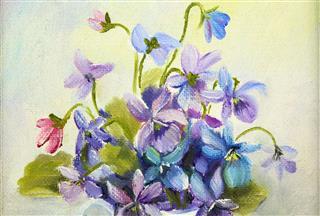 Original Art Violets