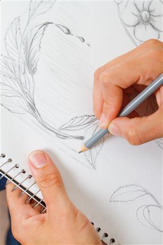 Young Woman Sketching