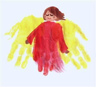 Fingerpainted Angel