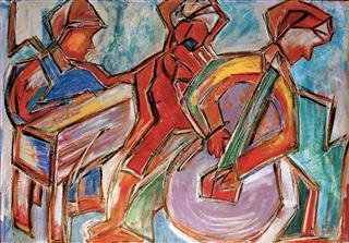 Jazz Musicians Original Painting