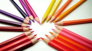 Colored Pencils As Wallpaper