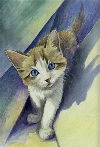 Bubblegum Baby Watercolor Painting