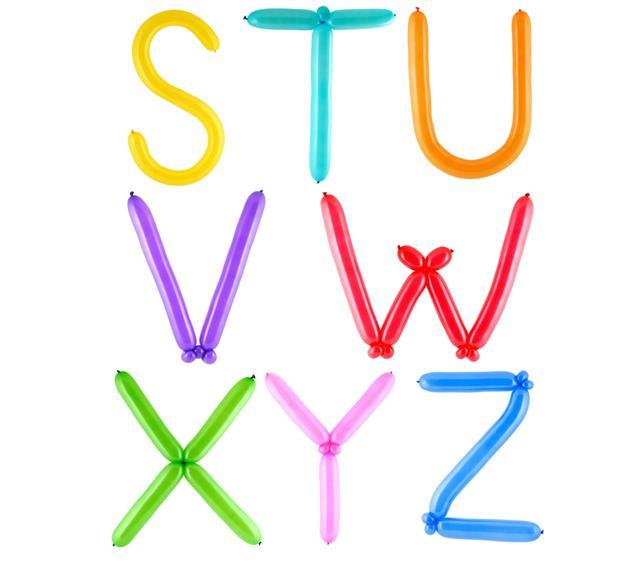Full Balloon Alphabet