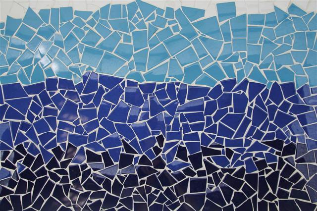 Blue Trencadis Mosaic