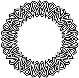Celtic Style Circle Frame