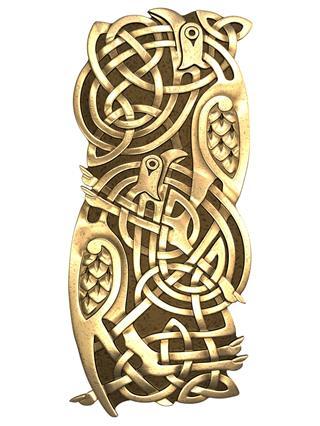 Birds Celtic Ornament