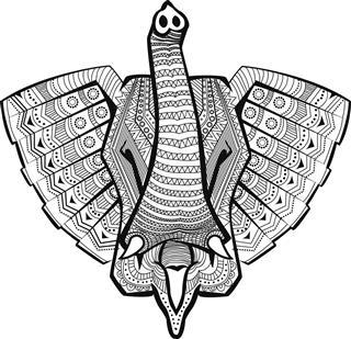 Head Of An Elephant In Celtic Pattern