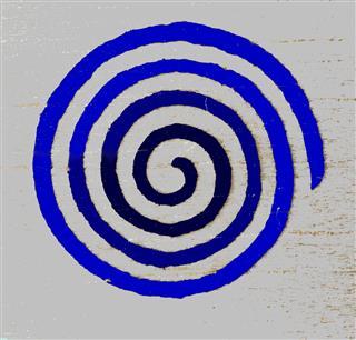 Celtic Spiral Design In Blue