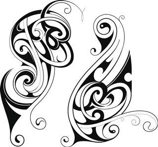 Maori Style Tattoo Set