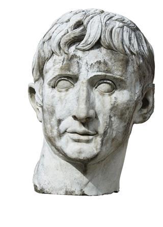 Sculpture Bust Head Caesar Stone Marble
