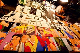 Set Of Pop Art Pictures