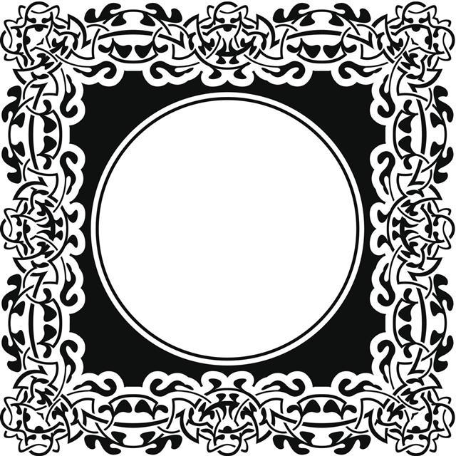 Celtic Black Frame Design