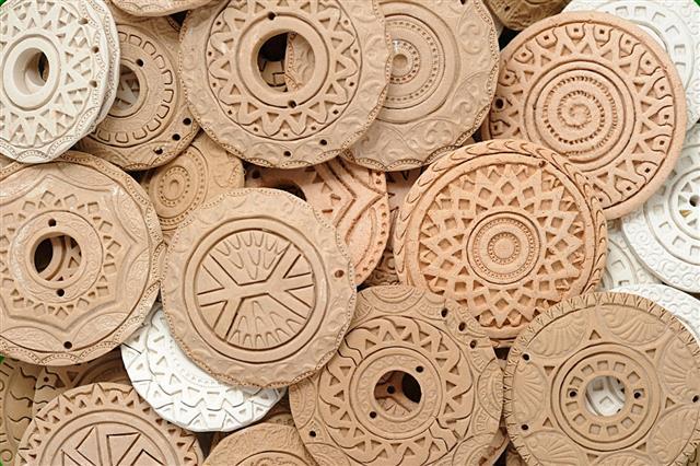 Handmade Ethnic Clay Beaded Design