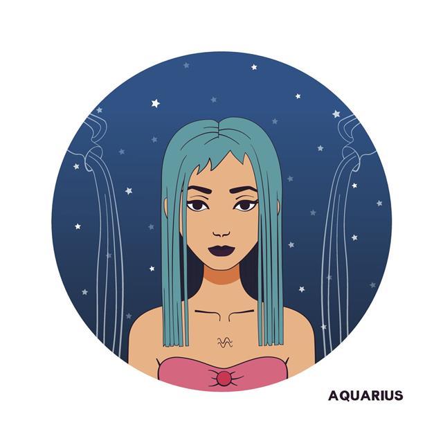 Symbol Of Zodiac Sign Aquarius