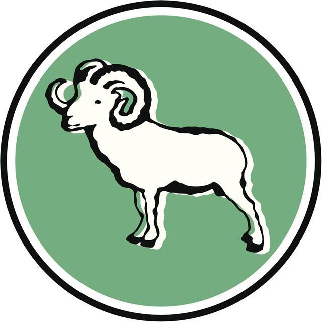 Aries Zodiac Sign in circle