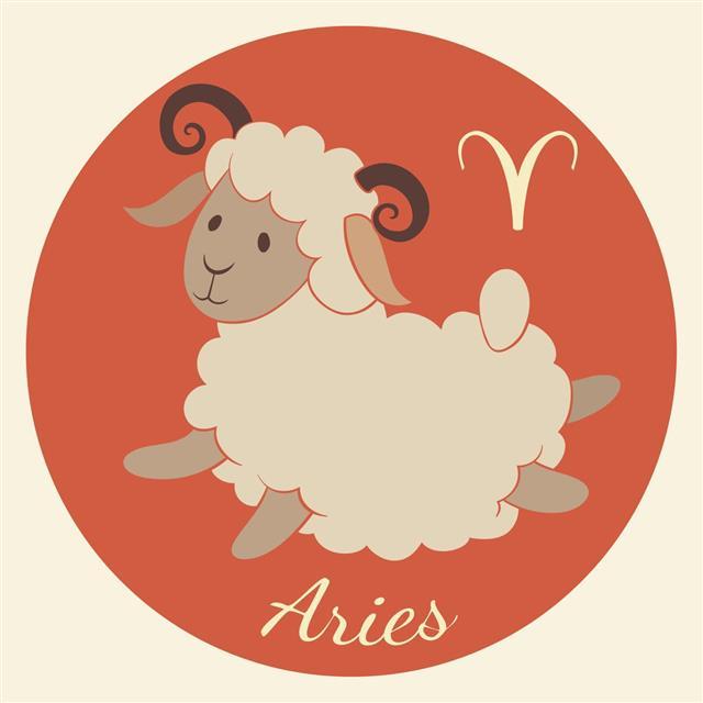 Zodiac symbol aries