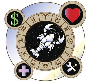 Zodiac symbol cancer in circle