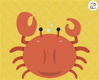 Cancer zodiac cartoon