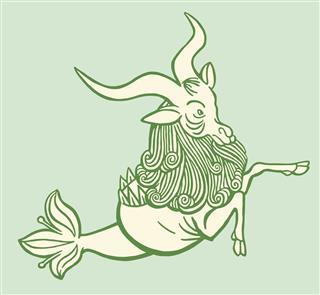 Zodiac Capricorn Sea Goat