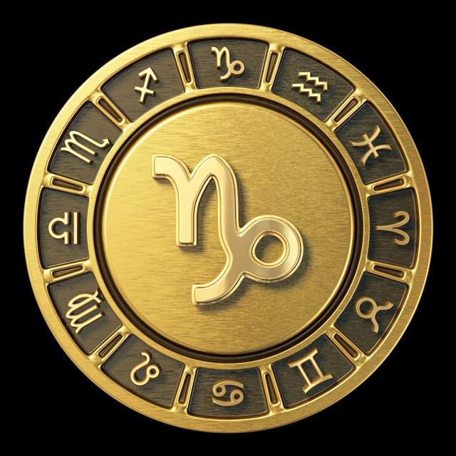 Gold Zodiac Wheel Capricorn