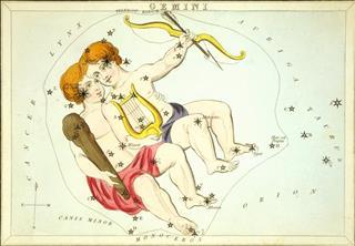 Gemini sign on map