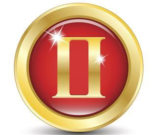 Golden zodiac sign gemini