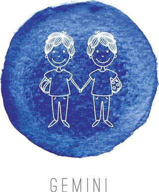 Twins zodiac symbol