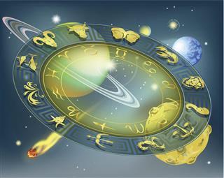 Zodiacs circle
