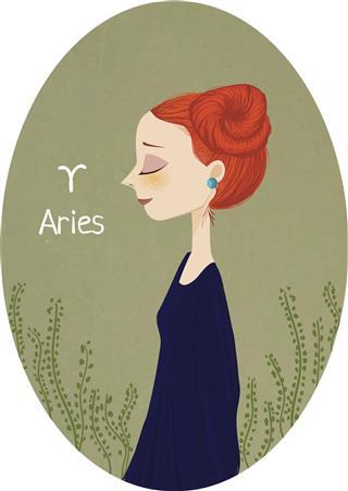 Horoscope zodiac sign Aries