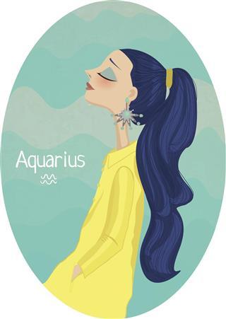 Horoscope zodiac sign Aquarius