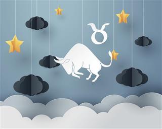 Taurus zodiac sign and horoscope concept