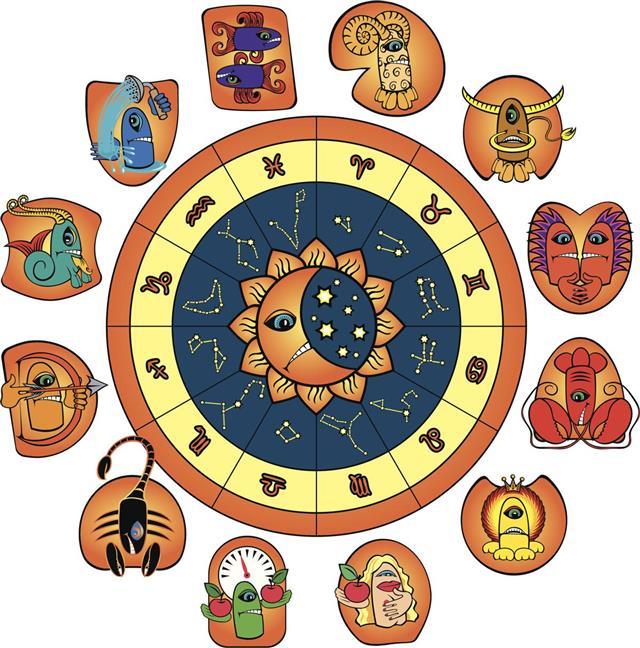 Horoscope of funny monsters